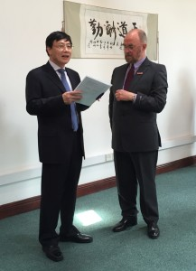 His Excellency Xu Jianguo and Prof Tom Shanahan