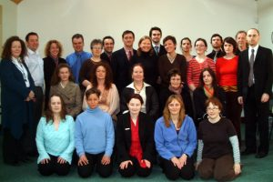 A large group of students of Chinese Medicine at the Irish College of TCM